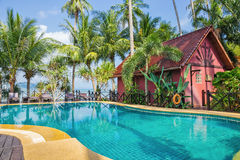 Swimming pool in tropical Royalty Free Stock Image