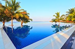 Swimming pool in a tropical hotel Royalty Free Stock Photography