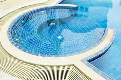 Swimming pool in tropical resort , Thailand. Royalty Free Stock Images