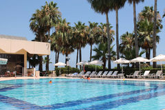 Swimming pool, Turkey royalty free stock photo