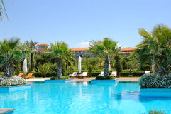 Swimming pool at Turkish hotel Stock Photography