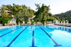 Swimming pool on Turkish resort Stock Image