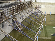 Swimming Pool under construction. With steel formwork Royalty Free Stock Photos