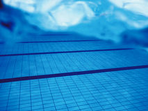 Swimming pool underwater. Royalty Free Stock Images