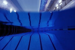 Swimming pool underwater photo Royalty Free Stock Photography