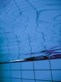 Swimming pool underwater in pool. Underwater Royalty Free Stock Photography