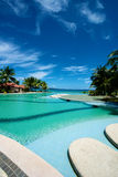Swimming pool vacation resort on Boracay Stock Image