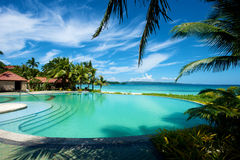 Swimming pool vacation resort on Boracay Stock Images