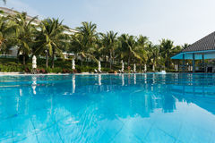 Swimming pool in the vacation resort in Vietnam Stock Photo