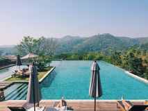 Swimming pool. In valley,Thailand Stock Images