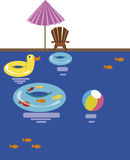 Swimming pool. Vector illustration Royalty Free Stock Image