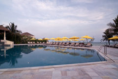 Swimming pool in Vietnam hotel Royalty Free Stock Images