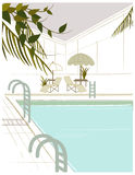 Swimming pool. The view of Swimming pool Royalty Free Stock Photo
