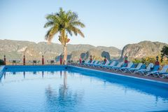Vinales Valley, Swimming Pool royalty free stock photo