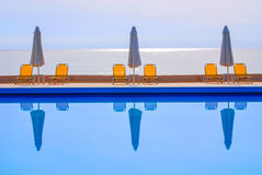 Swimming pool view Stock Photos