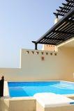 Swimming pool at villa Stock Image