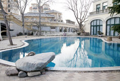 Swimming pool in the villa area Stock Photography