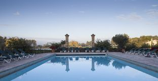 Swimming pool in a villa, Luberon, Provence, France Royalty Free Stock Photos