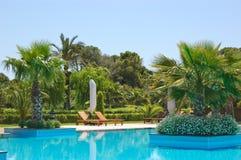 Swimming pool at VIP hotel, Antalya Royalty Free Stock Photography