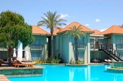 Swimming pool by VIP villas. Antalya, Turkey Stock Photos