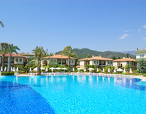 Swimming pool at VIP villas. Antalya, Turkey Stock Photo