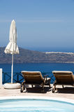 Swimming pool  volcanic island  mediterranean sea Stock Image