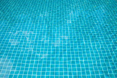 Swimming pool. Water blue line Stock Photo