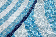 Swimming pool. Water detail swimming pool background Stock Photography