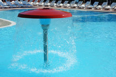 Swimming Pool Water Fountain Mushroom Umbrella Royalty Free Stock Photo