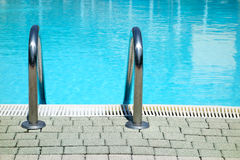 Swimming Pool Water Ladder Front Royalty Free Stock Images