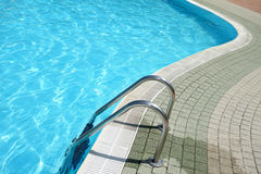 Swimming Pool Water Ladder Shaped Royalty Free Stock Image