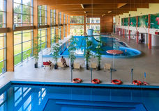 Swimming pool wellness sanatorium.  Druskininkai, Lithuania Stock Photography