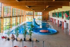 Swimming pool wellness sanatorium. Druskininkai, Lithuania Stock Photos