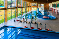 Swimming pool wellness sanatorium. Druskininkai, Lithuania royalty free stock photography