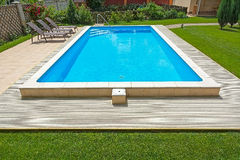 Swimming pool in the yard of a private home. Stock Photography