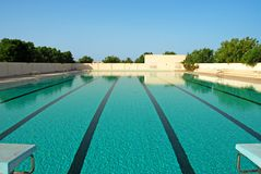 Swimming Pool2. An Outdoor swimming pool in Sharjah Royalty Free Stock Image