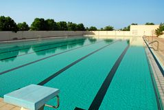 Swimming Pool3. An Outdoor swimming pool in Sharjah Stock Image