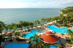 Free Swimming Pools And Bar At The Beach Royalty Free Stock Image - 17043126