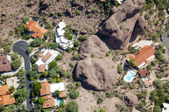 Swimming Pools on Camelback Mountain Stock Photo