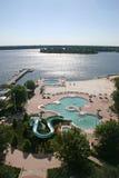 Swimming Pools and Lake Royalty Free Stock Photo