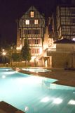 Swimming Pools at Night Stock Photo