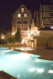 Swimming Pools at Night Stock Photo