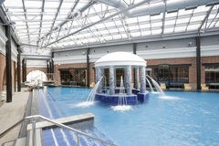 Swimming pools in a spa hotel Royalty Free Stock Images