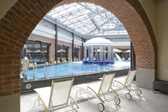 Swimming pools in a spa hotel Royalty Free Stock Image