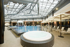Swimming pools in a spa hotel Royalty Free Stock Photo