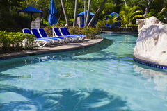 Swimming poor. A swimming poor in Montego Bay, Jamaica royalty free stock photo