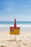 Swimming prohibited Royalty Free Stock Image