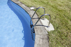 Swimming and railing Stock Image