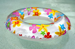 Swimming ring. Colored swimming ring in water Royalty Free Stock Photos