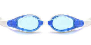 Swimming rubber glasses. Isolated white royalty free stock images